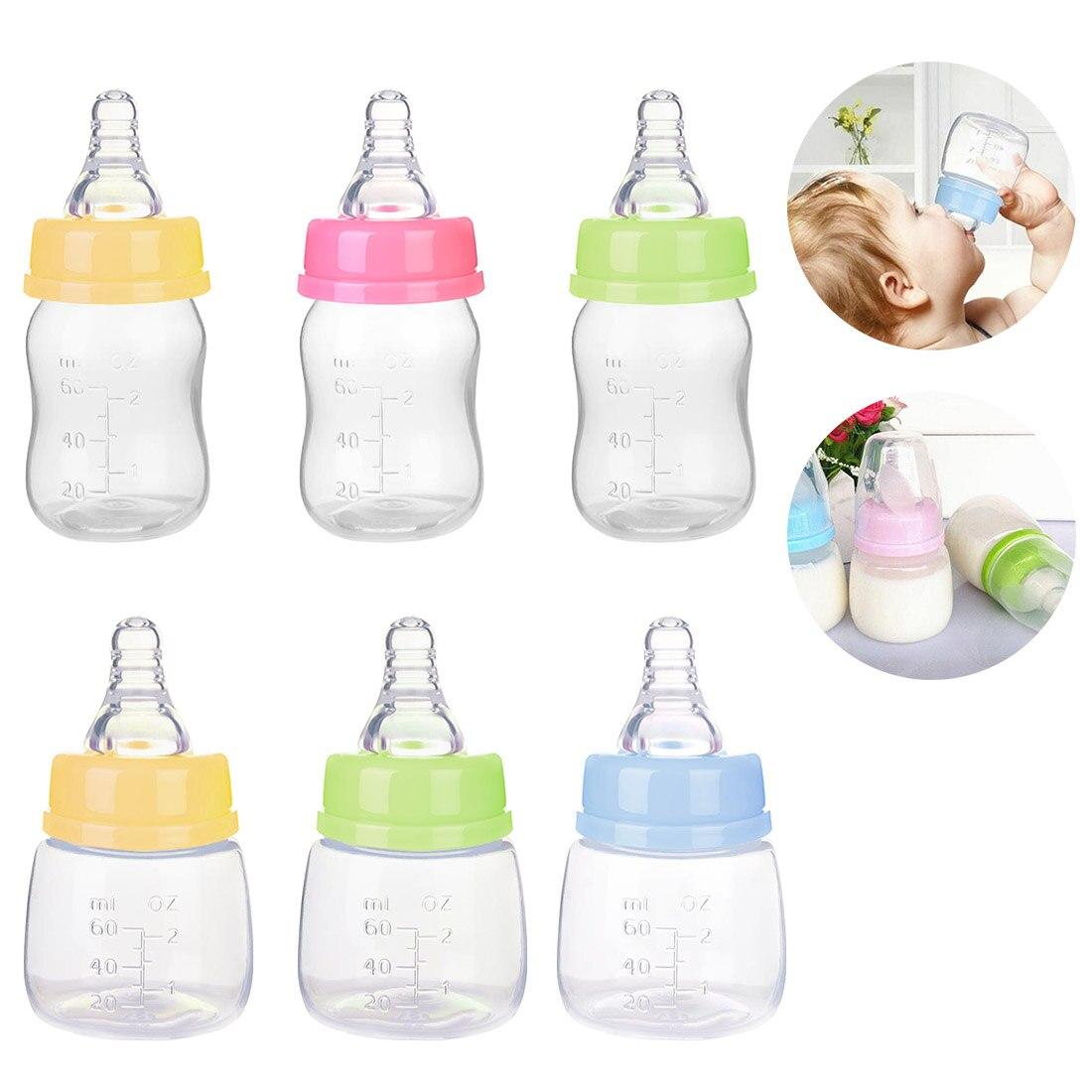 Baby 60ml Standard Caliber Milk Feeder Juice Feeder Mini Bottle Newborn Kids Nursing Care Feeder Fruit Juice Milk Water Bottle