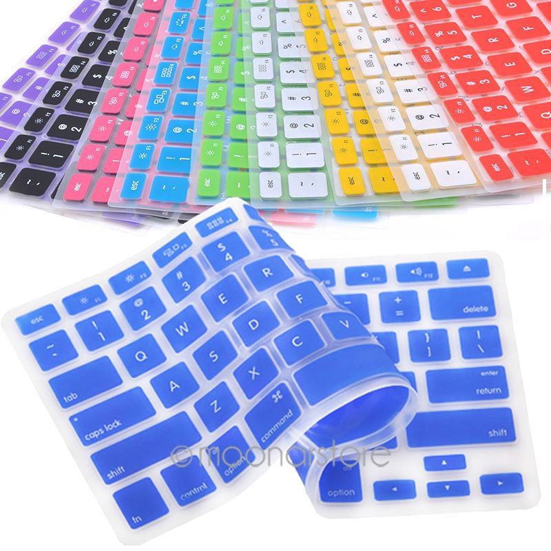 9Color Silicone <font><b>Keyboard</b></font> Cover Skin <font><b>Keyboard</b></font> Protective Film for All Apple Macbook Pro <font><b>MAC</b></font> 13 15 Air 13 soft <font><b>keyboard</b></font> <font><b>Sticker</b></font> image
