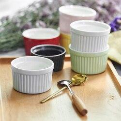Ceramika miska do pieczenia dekoracji sałatka owocowa galaretki miska ceramika pudding miski rękodzieło kreatywne ciasto chleb formy do pieczenia