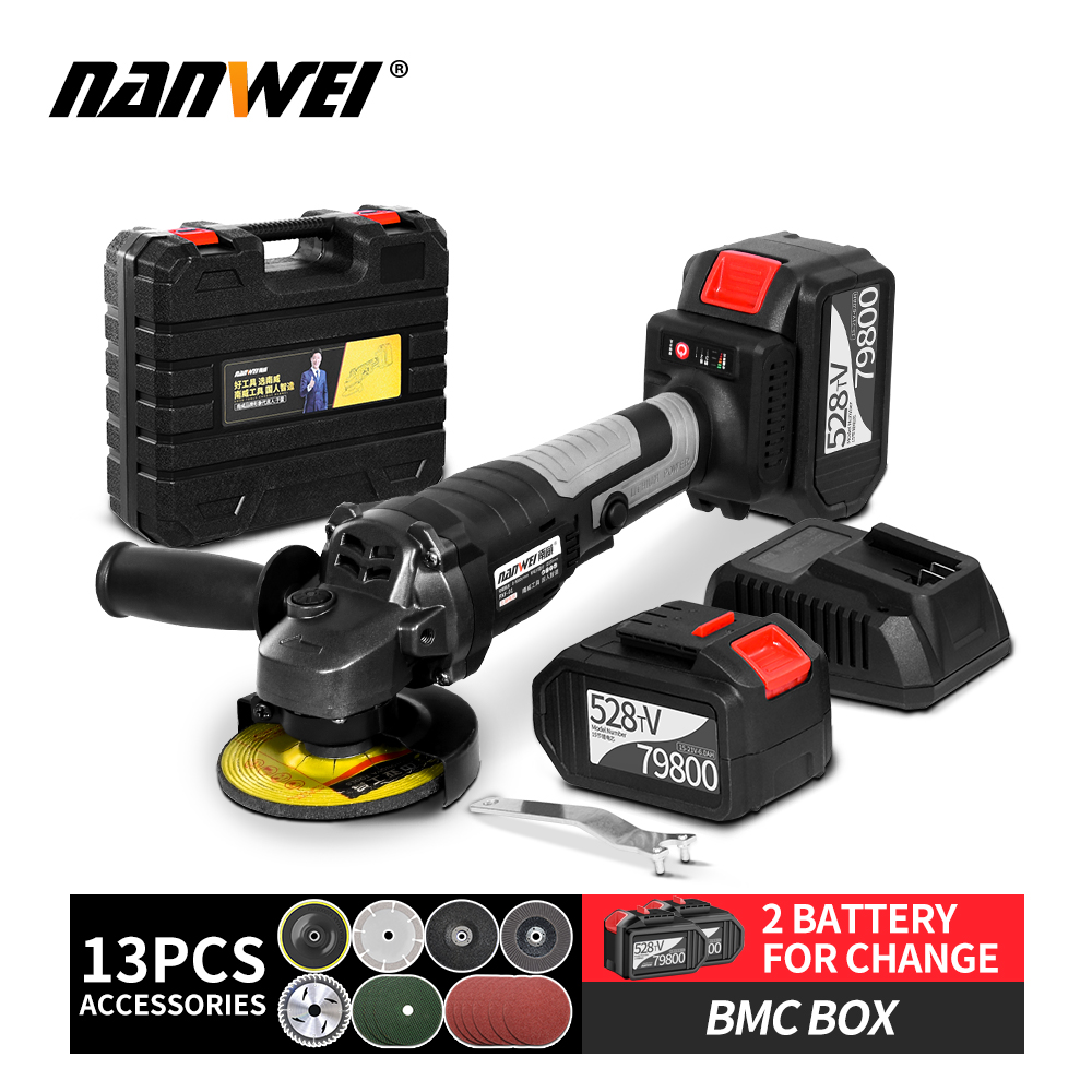 High Quality 21V Cordless Rechargeable Brushless Electric Angle Grinder