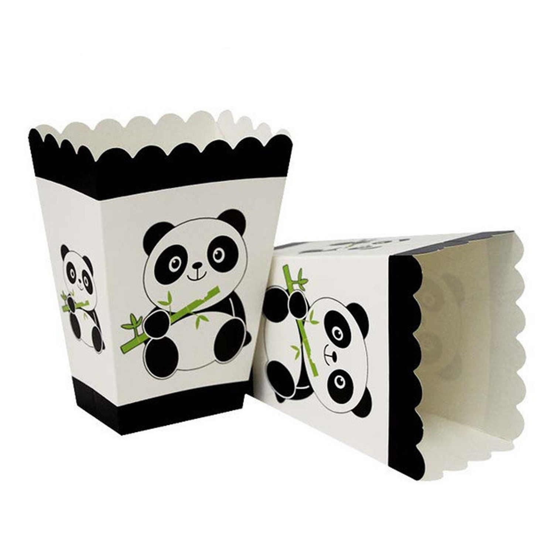 Behogar 78PCS Panda Galhardete Fontes do Partido de Aniversário com Copos Pratos Toalha Toalhas De Papel Caixas de Pipoca Cartões Bolo Toppers