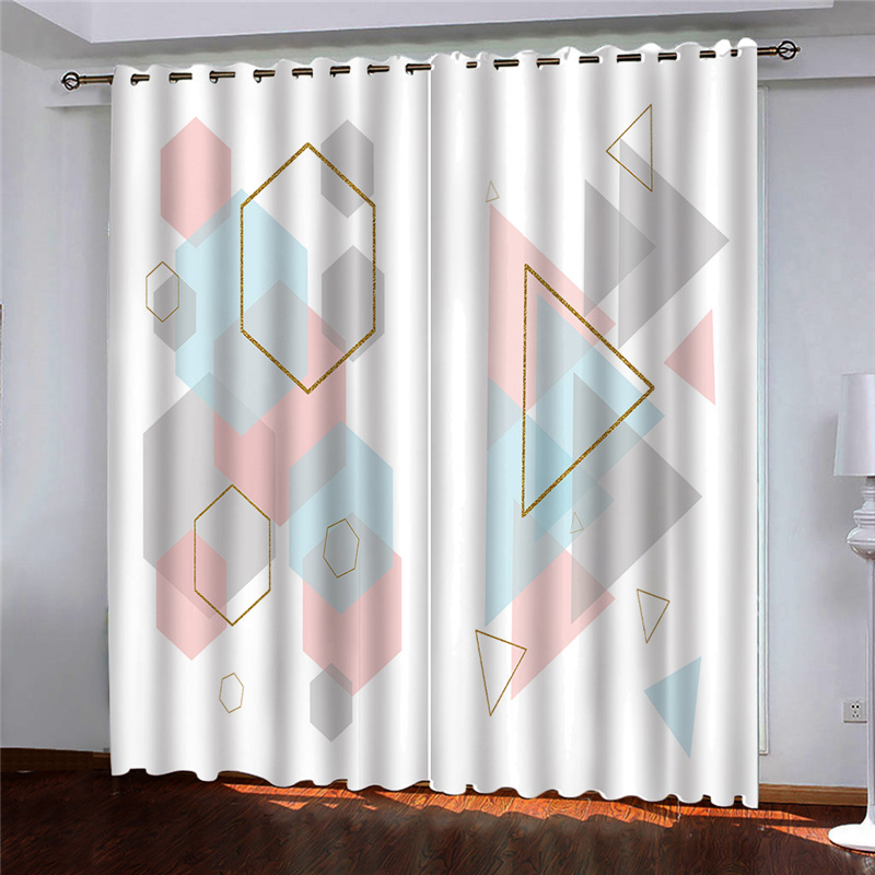 custom 2020 3D curtains Abstract modern decoration curtains for bedroom living room home goods Blackout window 3D curtains roll