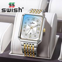 Swish повседневные мужские прямоугольные наручные часы 2020