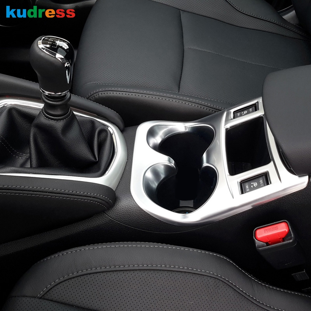 For <font><b>Nissan</b></font> <font><b>Qashqai</b></font> J11 2015 2016 <font><b>2017</b></font> Car Interior <font><b>Accessories</b></font> Water Cup Holder Cover Trim Decoration Frame Sticker AT Model image