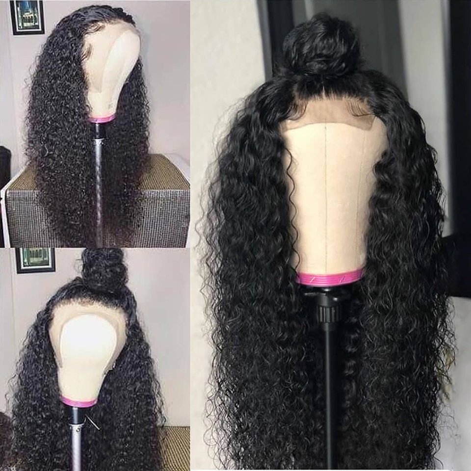 Kinky Curly Lace Frontal Human Hair Wig 6