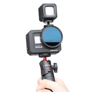 Image 2 - Ulanzi G8 5 boîtier en métal Vlog Cage avec chaussure froide pour GoPro Hero 8 noir étendre Microphone remplir lumière Vlog caméra accessoire