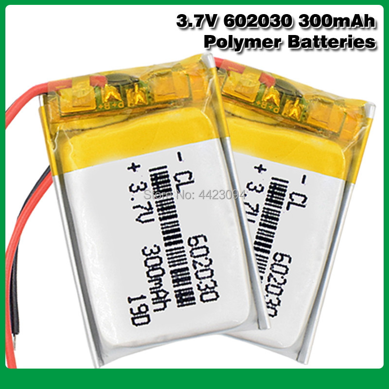 3.7V 300mAh Li-Po Rechargeable Battery <font><b>602030</b></font> For Lithium Li-Po Polymer Rechargeable Battery For Bluetooth speaker Tachograph image