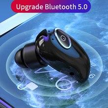 V21 الرياضة بلوتوث 5.0 سماعة صغيرة سماعات رأس لاسلكية في الأذن 8D ستيريو HiFi يدوي بلوتوث سماعة لاسلكية صغيرة داخل الأذن للهواتف الذكية