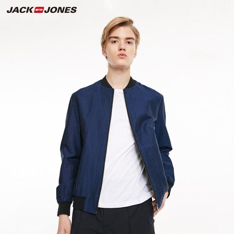 JackJones Men's Baseball Collar Jacket Business Casual Breathable Streetwear Men's Jacket | Sports 219221505