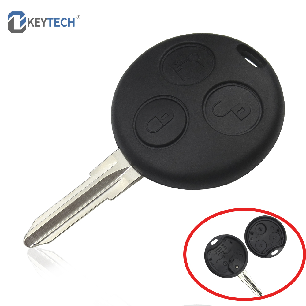 OkeyTech 3 Buttons Replacement Car <font><b>Key</b></font> Shell Case For Mercedes Benz <font><b>SMART</b></font> Fortwo <font><b>450</b></font> Forfour Roadster Remote Auto image
