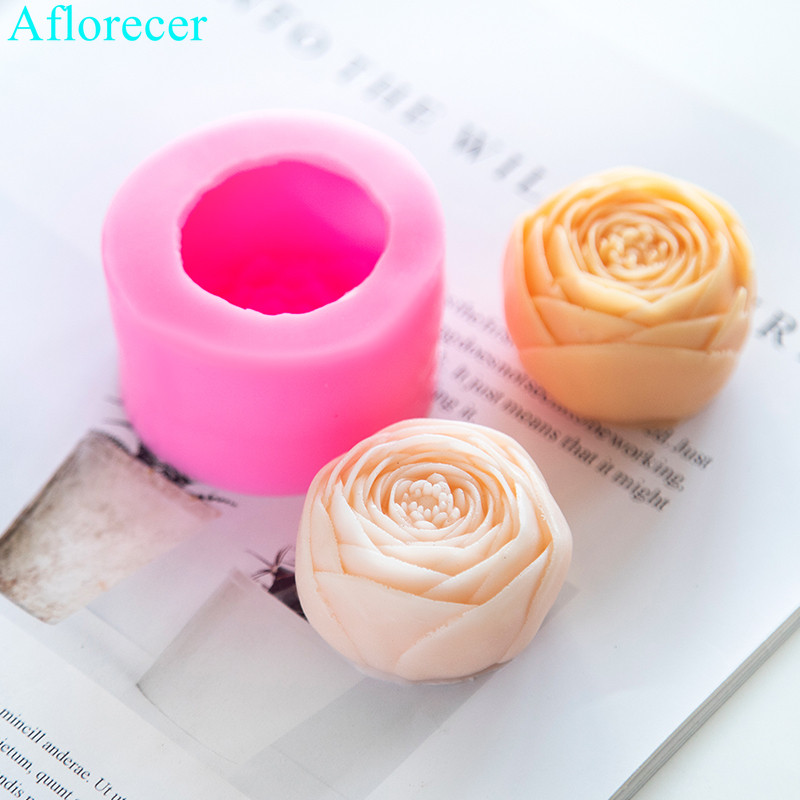 3D Flower Silicone Candle Soap Mould DIY Chocolate Candy Mold Handmade Clay Craft Art Decorating Soap Candle Making Molds