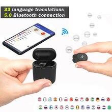 Nova tradução peiko s fones de ouvido 33 línguas traduzir instantaneamente tradutor voz inteligente sem fio bluetooth tradutor fone ouvido