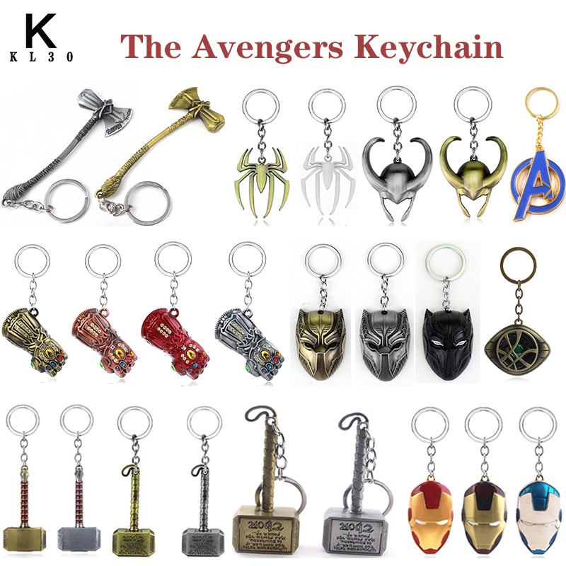 The Avengers Metal Keychain Thor Hammer Weapon Bottle Opener Key Chain Car Keyring Pendant Marvel Fans Gift Fashion Accessories