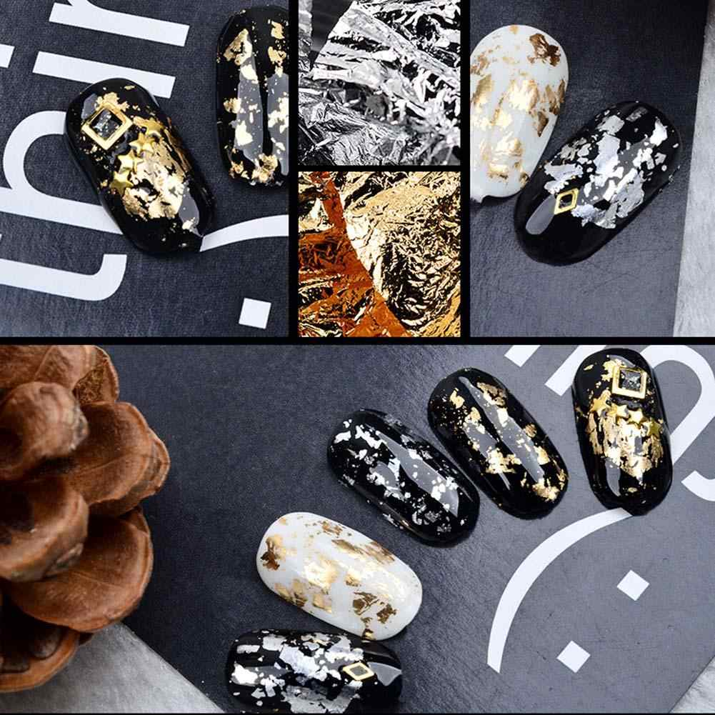 New Glitter Tinfoil Nail Art Stickers UV Gel Crystal Manicure Tin Foil Decals Nails Designs Nail Art Beauty Decoration
