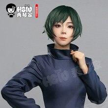 HSIU – perruque de Cosplay courte verte, cheveux synthétiques, résistant à la chaleur, avec bonnet de marque, cadeau gratuit