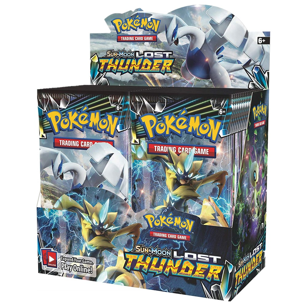 13Style 324pcs Cards Pokemon Card Sun & Moon Lost Thunder Booster Box (Pack Of 36) Trading Card Game Kids Collection Toys