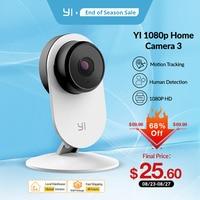 YI-Cámara de seguridad inteligente e inalámbrica IP con visión nocturna, cámara inteligente, edición UE, Home 3 YI, 1080P YI, Android