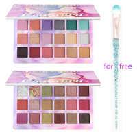 New 18 Color Nude Shining Eyeshadow Palette Makeup Glitter Pigment Smoky Eye Shadow Pallete Waterproof Cosmetics Eye Shadow