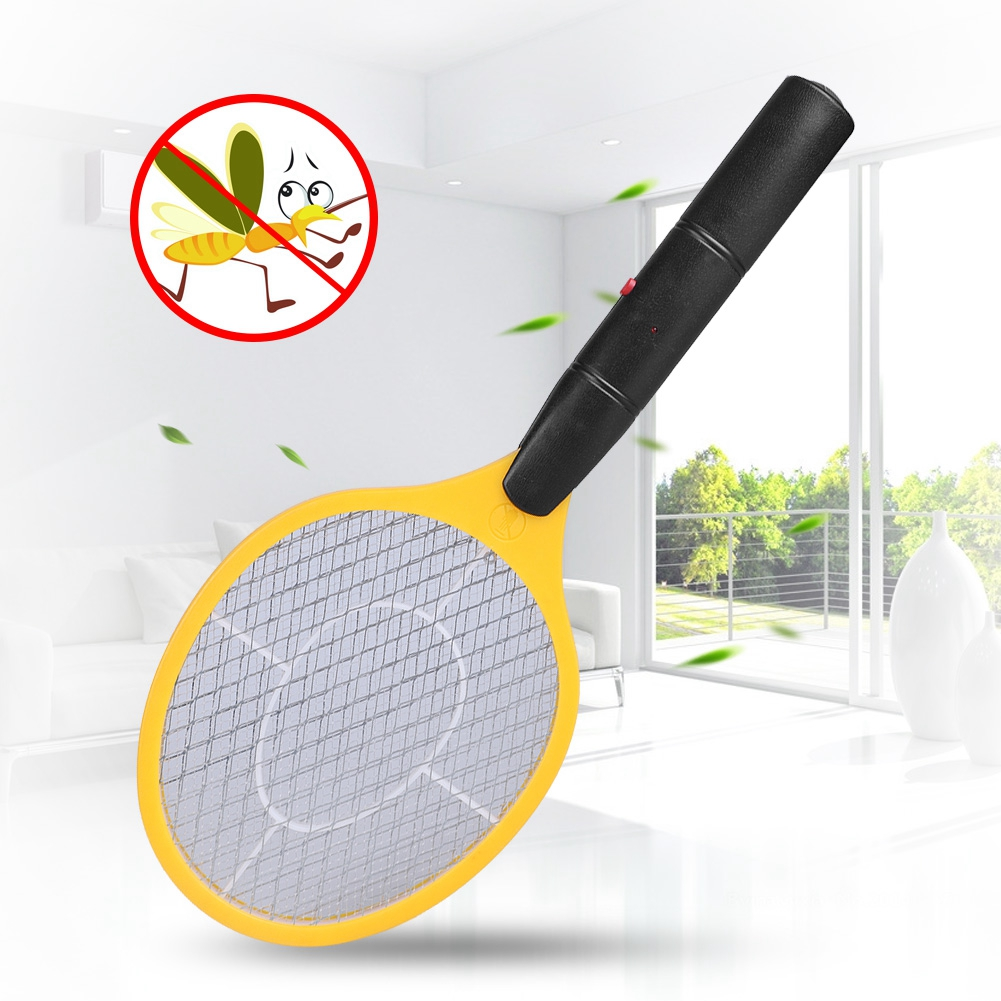 Mosquito Swatte Summer Hot Cordless Battery Power Electric Fly Mosquito Swatter Bug Zapper Racket Insects Killer Home Bug Zapper