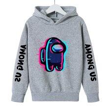 Girl Graphic Hoodie Boy Cartoon Sweatshirt Streetwear Long-Sleeves Harajuku Anime Among Us