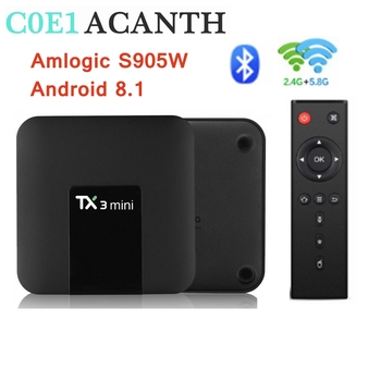 TX3 Mini tv box Android 8.1 Amlogic S905W TV Box Dual Wifi With BT Smart TV H.265 TV 4K Smart Set Top Box Media Player 2G 16G mecool m8s pro l android 7 1 amlogic s912 3g ddr3 16 32gb 2 4g 5 8g wifi bluetooth h 265 4k smart iptv tv box android tv box