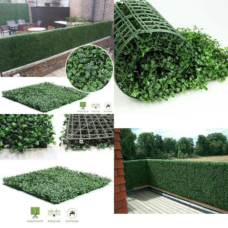 40*60cm Artificial Boxwood Hedges Panels Privacy Synthetic Balcony Fencing Ivy Fence Wall Home Garden Outdoor Decoration