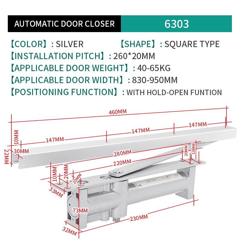 Купить с кэшбэком 6303 Marie Buffer Door Closer Hidden Home Hydraulic Sliding Spring Automatically Door Closing The Artifact Positioning 40KG-65kg