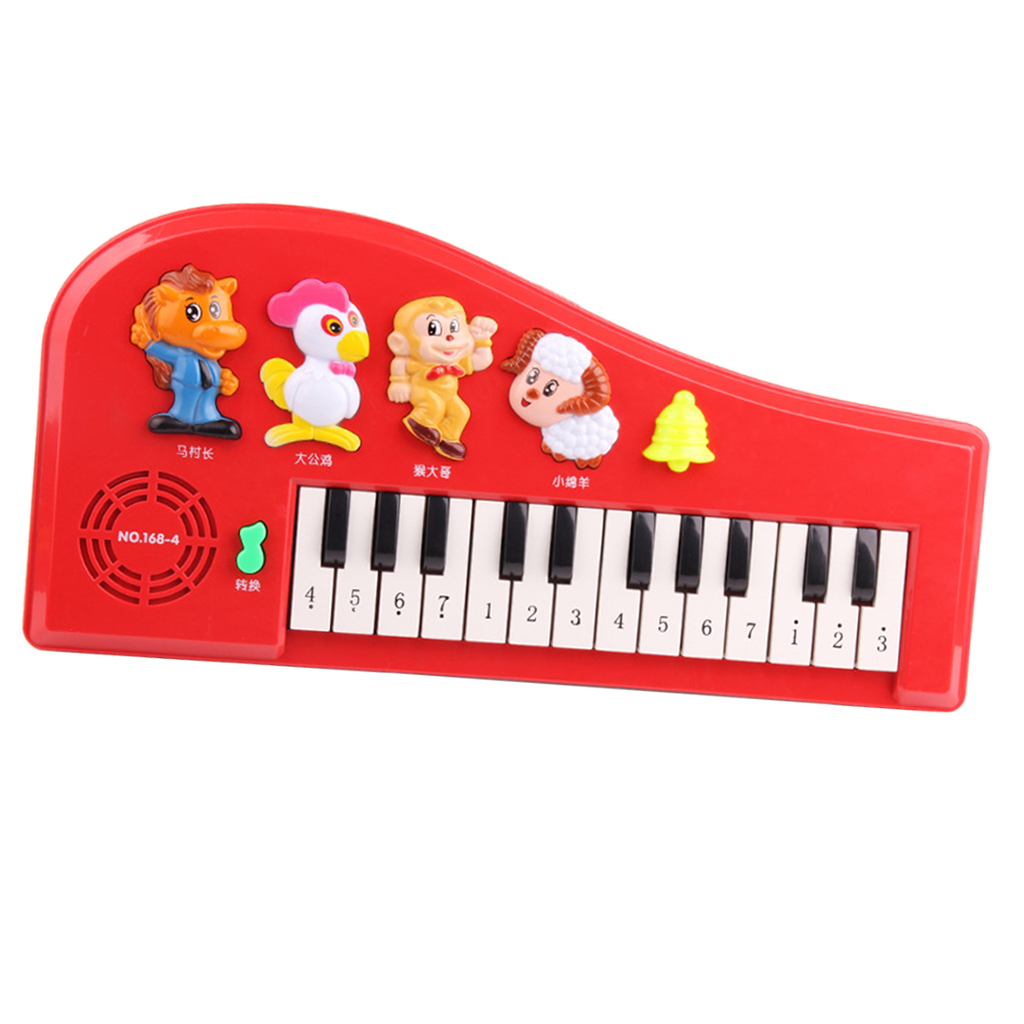 Lovely Animal Music Toys Kids Electronic Piano with 2 Modes, 4 Animal Sounds