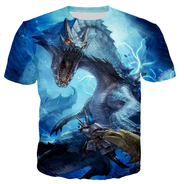 Monster hunter men/women New fashion cool 3D printed t-shirts casual style tshirt streetwear tops dropshipping
