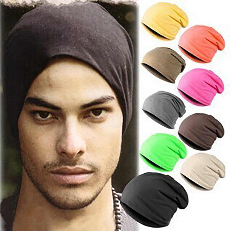 TRUENJOY moda kadın erkek örgü bere düz renk Hip-hop Snap Skullcap rahat yumuşak bere kap 16 renk