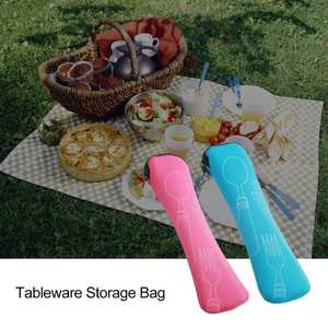Portable Cloth-Pouch Cutlery Storage-Accessories Kitchen Camping/travel Packing-Storage-Bag