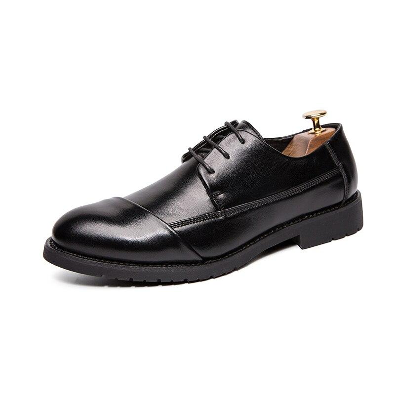 2019 printemps automne fête formelle hommes chaussures marque adulte affaires chaussures plate-forme Pu cuir chaussures pour homme noir chaussures hommes décontractées