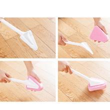 Универсальная Многофункциональная треугольная губчатая щетка с длинной ручкой для кухни и ванной
