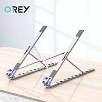 Aluminum Alloy Portable Laptop Stand Foldable Base Notebook Support Holder For Macbook Adjustable Computer Cooling Stand Riser