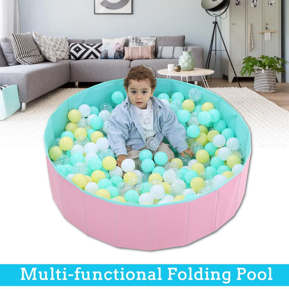 Foldable Baby Playpen S 80x26cm Folding Children Kids Outdoor & Indoor Playing Ocean Ball Pool Child Baby Fence