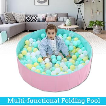 Foldable Baby Playpen S 80x26cm Folding Children Kids Outdoor & Indoor Playing Ocean Ball Pool Child Fence
