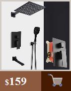H4834fa43560045c88c4545b6f52833b38 BAKALA Luxury Matte Black Bathroom Faucet Basin Sink Tap Wall Mounted Square Brass Mixer Tap LT-320BR
