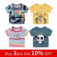 HIPAC 10 OFF dziecięca koszulka z krótkim rękawem bawełniane koszulki chłopiec dzieciak chłopcy i dziewczęta topy koszule dziecięca koszulka tanie tanio COTTON CN (pochodzenie) Na co dzień Cartoon REGULAR O-neck Tees Pasuje prawda na wymiar weź swój normalny rozmiar Unisex