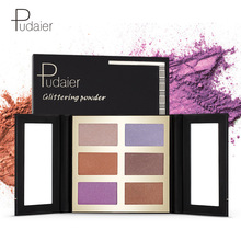 Pudaier 6 Color, High Light Powder, Eye Shadow Plate, Repair Plate, Magic Series, Brightening Foreign Trade Amazon Explosion.