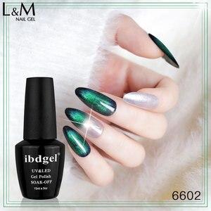 Image 4 - 12pcs ibdgel black bottle 15ML Lot Set chameleon 9D Cat Eyes Gel magic Magnetic Gel Nails Shining and Changeable UV led soak off