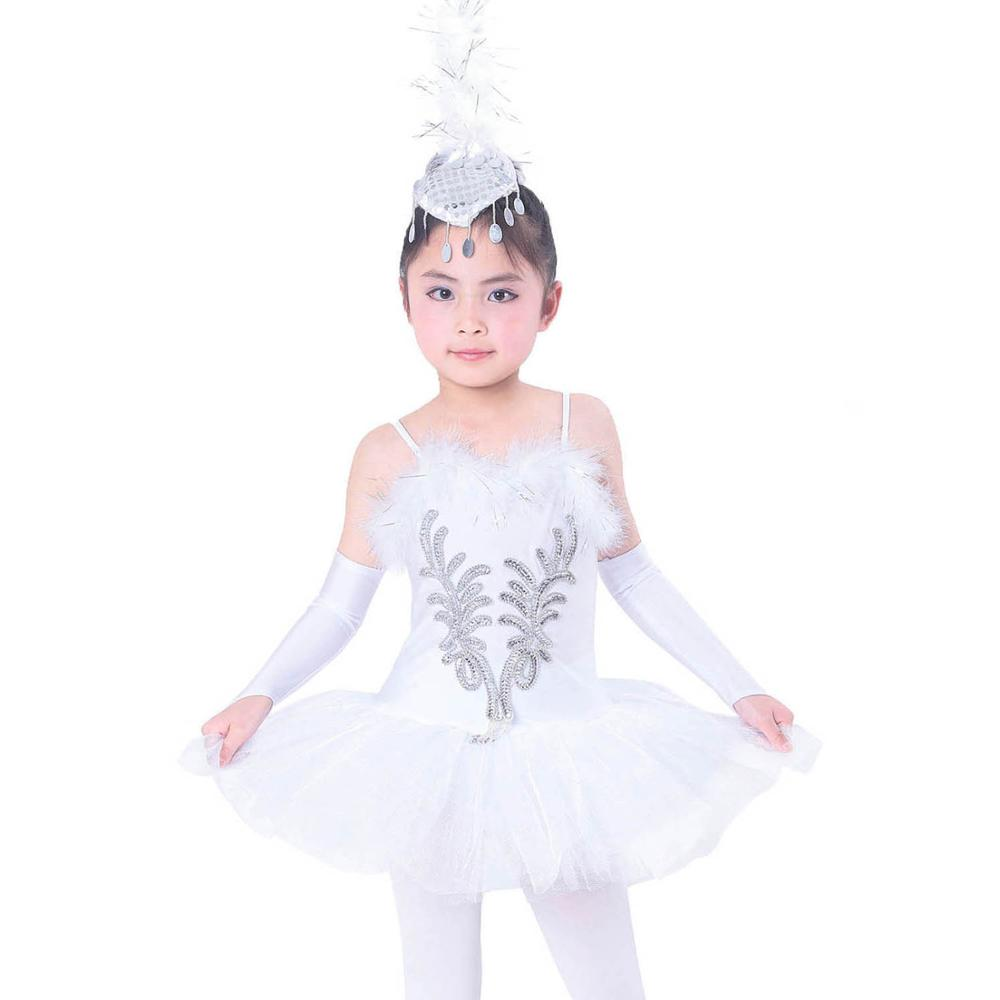 FONLAM Girl Ballet Leotard Ballerina Dress Sequined Camisole Ballet Tutu Dress Leotard for Girl Kid