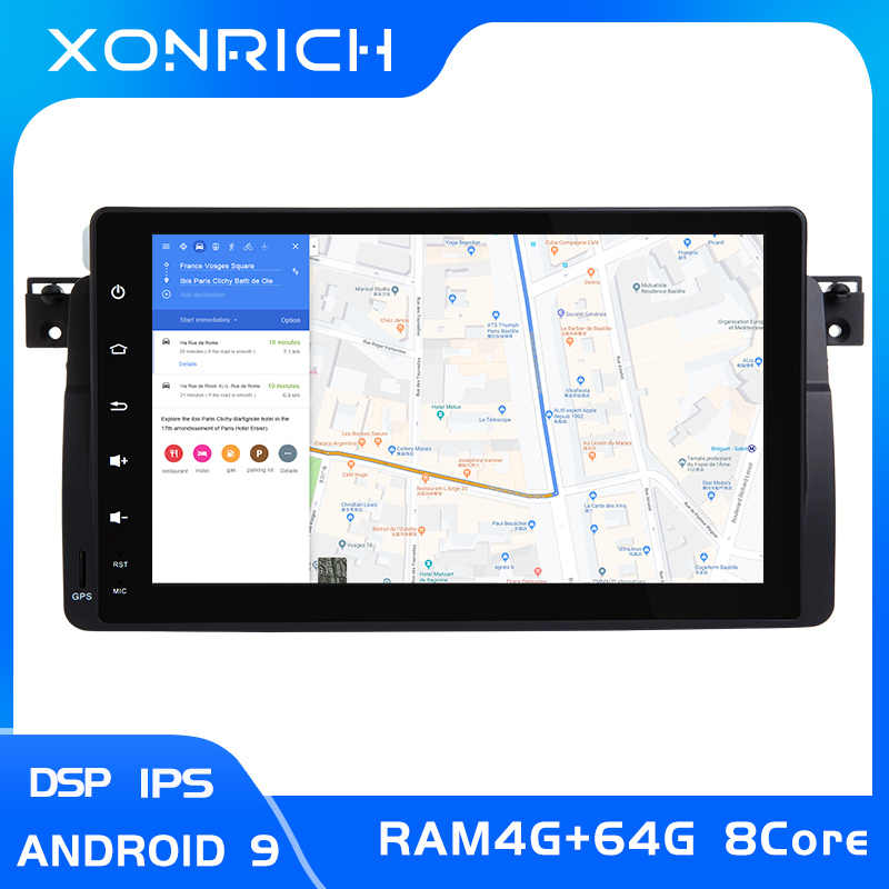 IPS DSP 8 1 DIN Android 9 Radio Đa Phương Tiện Cho Xe BMW E46 M3 318/320/325 /330/335 Rover 75Coupe Navigationgps Stereo 4 + 64GB