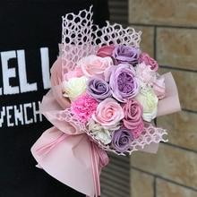 Розы Цветы Букет мыло цветок розы искусственный цветок креативный подарок на День учителя свадьба/Рождество/День Святого Валентина