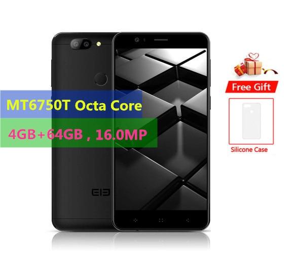 "Téléphone portable Original ELEPHONE P8 mini 4G 4GB RAM 64GB ROM MTK6750T Octa Core Android 7.0 16.0MP empreinte digitale ID 5.0 ""téléphone portable"
