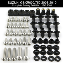 For Suzuki GSXR600 GSXR750 GSX-R 750 2008 2009 2010 Complete Full Fairing Kit Fairing Bolt Kit Screws Clips Stainless Steel motorcycle fairings for suzuki gsxr gsx r 600 750 gsxr600 gsxr750 2008 2009 2010 k8 abs plastic injection fairing bodywok kit sw