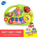 HOLA 927 Baby Speelgoed Leren Machine Speelgoed met Verlichting & Muziek & Leren Verhalen Speelgoed Muziekinstrument voor Peuter 6 maand +