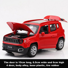 cars kids toys collection 1/32 Jeep Renegade SUV Diecast model car with sound&light pull back model car toy цена