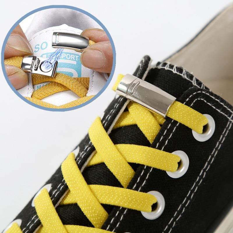Shoe Laces Sneakers Elastic Quick No-Tie Creative Adult 1pair Unisex Kids