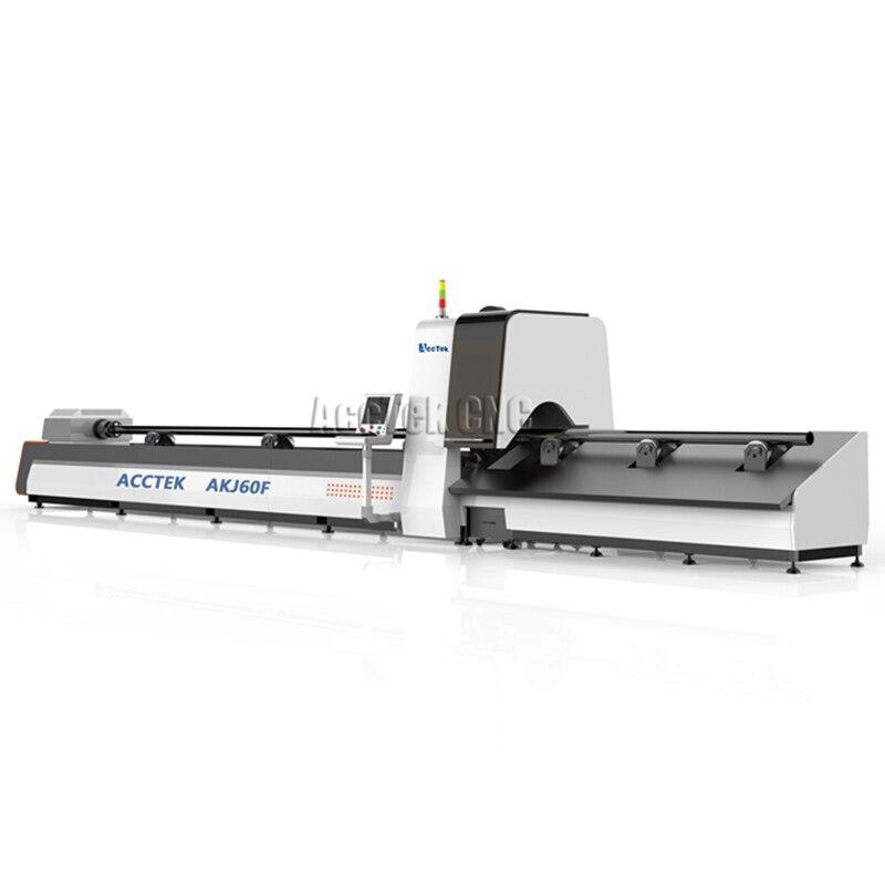 Factory Price 1000w  1500 W Fiber Laser Cutter Metal Tube Pipe Machine Price For Metal Making AKJ60F