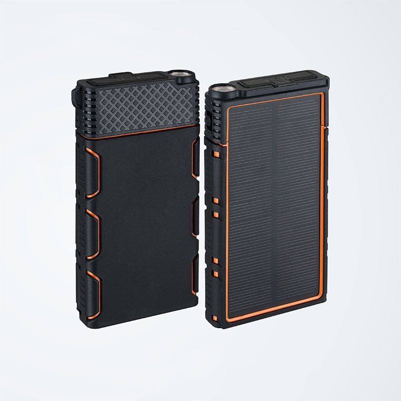 Solar <font><b>Power</b></font> <font><b>Bank</b></font> <font><b>15000mAh</b></font> Portable Waterproof Powerbank with Flashlight for Climbing Travel Poverbank For <font><b>Xiaomi</b></font> Mi 9 iPhone 11 image